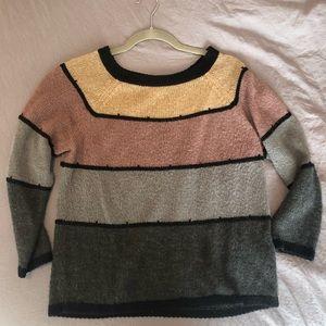 Medium color block sweater
